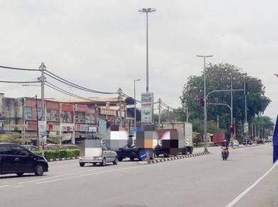 Main Road Frontage Of Tongkang Pecah Town