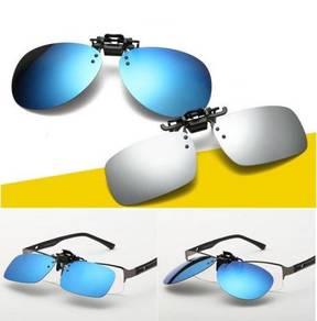 Polarized Clip on Flip Up Light Plastic Sunglasses