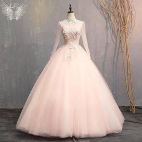 Green pink wedding bridal gown RBMWD0276