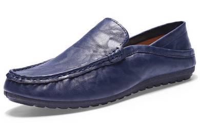 R0224 Smart Dark Blue Loafer Casual Slip On Shoes