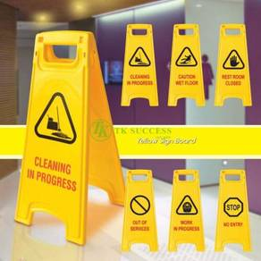 Caution Yellow Sign Board