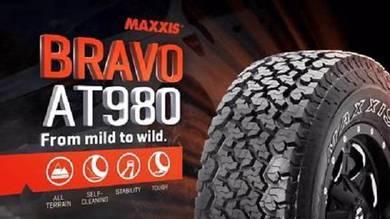 MAXXIS BRAVO AT980 AT 265/60/18 new tyre tayar 20