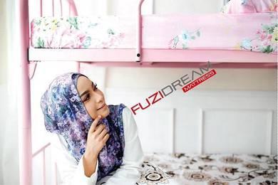 Katil Besi Pink Spec Universiti dengan PLYWOOD