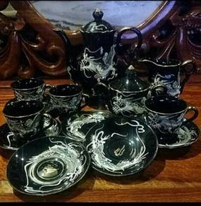 China made in japan black dragon rare teaset SLG