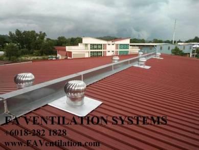 TRF24N WINDMILL Turbine Ventilator (US) + Air Vent