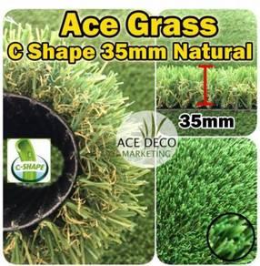 C35mm Natural Artificial Grass Rumput Tiruan 45
