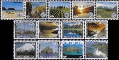 Mountain Lake Sea Scenery New Zealand Stamp Used