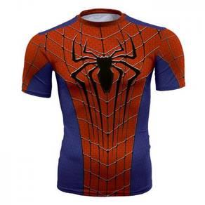 Super hero spiderman iron man slim fit T shirt