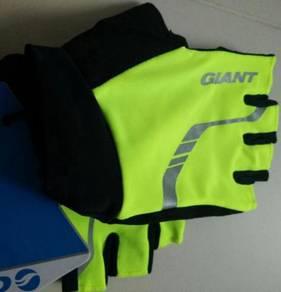 Giant Illume Half Finger Gloves Neon Yellow