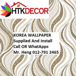 3D Korea Wall Paper with Installation 43yhb5