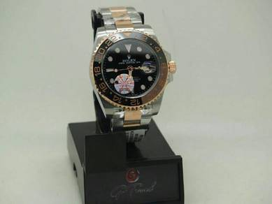 Gmt silver gold watch