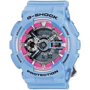 Casio G SHOCK GMAS110F BLUE WITH ROSE - ORIGINAL