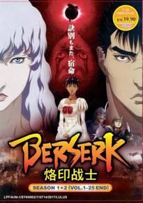 DVD ANIME Berserk Season 1 + 2 (Vol.1-25 End)