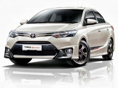 Toyota vios trd bodykit with spoiler paint 2013