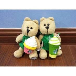 Starbucks Green Apron Bearista Bear Plush Keychain