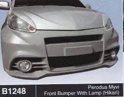 Perodua myvi 1 hikari bodykit fibre without paint