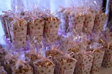 Doorgift goodies bag Popcorn