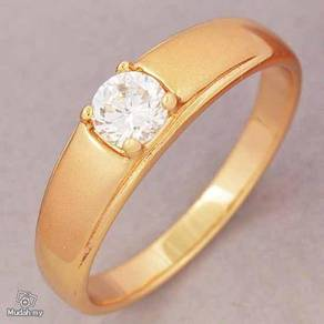 ABRGF-W006 Frosted 9K Gold Filled CZ Wedding Ring