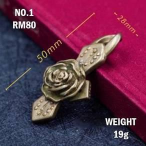 Copper Flower Pattern Keychain | Keychain Tembaga