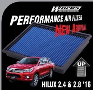 WORKS Air Filter TOYOTA HILUX REVO 2.4 & 2.8 2016