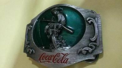Vintage Coca Cola buckle no 22 Fishing