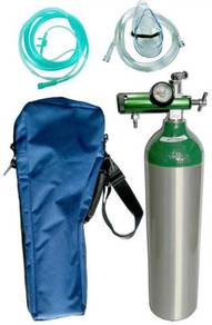 Medical grade oxygen cylinder sets with regulators