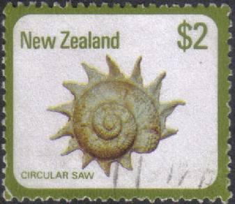 Seashell Sea Shell Marine New Zealand Stamp Used