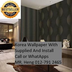Beautiful In Wall paper with Installation  538O