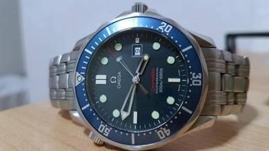 Omega Seamaster Blue Bond Quartz 222180 Full set