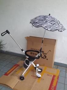 5 wheel Magic Stroller Fence Free Basket
