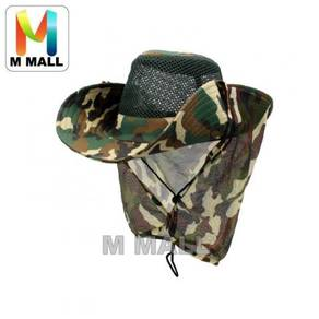 Camo fishing hat / topi 06