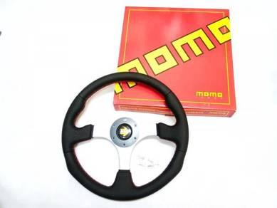 Steering Sport MoMo RACE 14 Inci KULIT - BARU