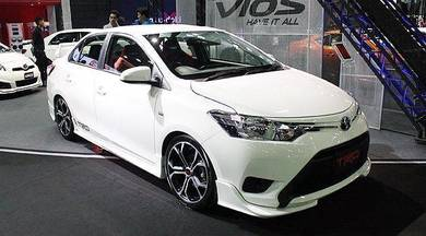 Toyota vios trd bodykit with paint 2013 body kit