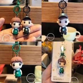 Starbucks Black & Green Apron Barista Keychain