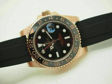 Rubber auto gmt watch