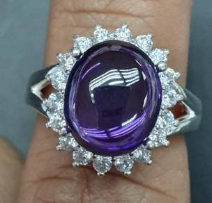 Cincin batu serai mentah ungu