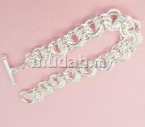 ABBS9-S013 Vogue Silver 925 Bracelet Mens Fashion