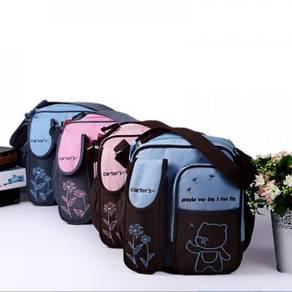 Bear Waterproof Mummy Diaper Organizer Sling Bag