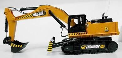 Toy excavator bulldozer remote control w light