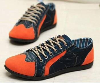 18361 Kasut Trendy Orange Sneakers Casual Shoes