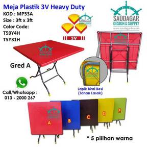 3V PLASTIC TABLE Meja Plastik 3v