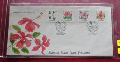 FDC Bunga Raya Di Malaysia 1984