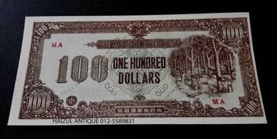 100 Dollars - Malaya Japanese Occupation