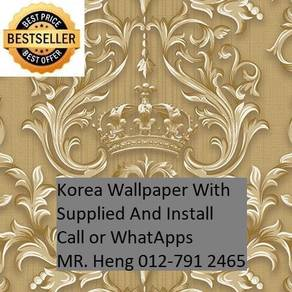 PVC Vinyl Wall paper with Expert Install 356j