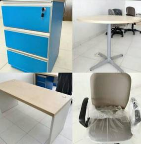 CHEAP Office Table Sofa Bed TV n File Cabinet