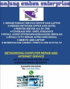 Wifi network pc dan singnal tv