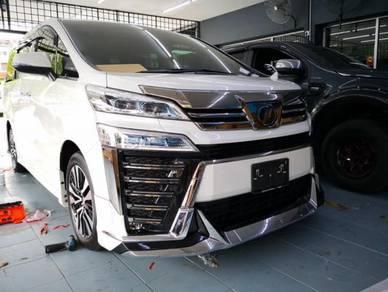 Toyota vellfire 2018 facelift bodykit modelista