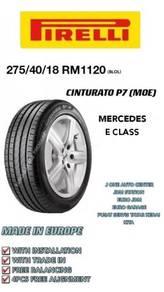 Pirelli 275 40 18 cinturato p7 moe mercedes bmw