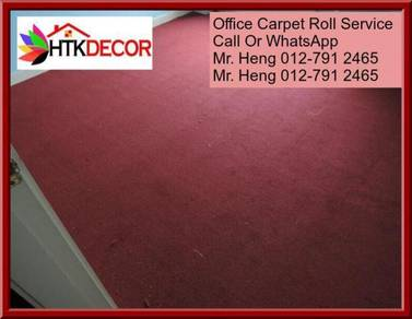 Classic Plain Design Carpet Roll with Install 45h4