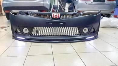 Honda civic fd mugen rr front lip pp bodykit